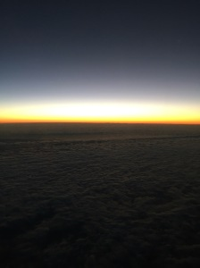 Watching sunrises above the clouds is one of my favorite things.